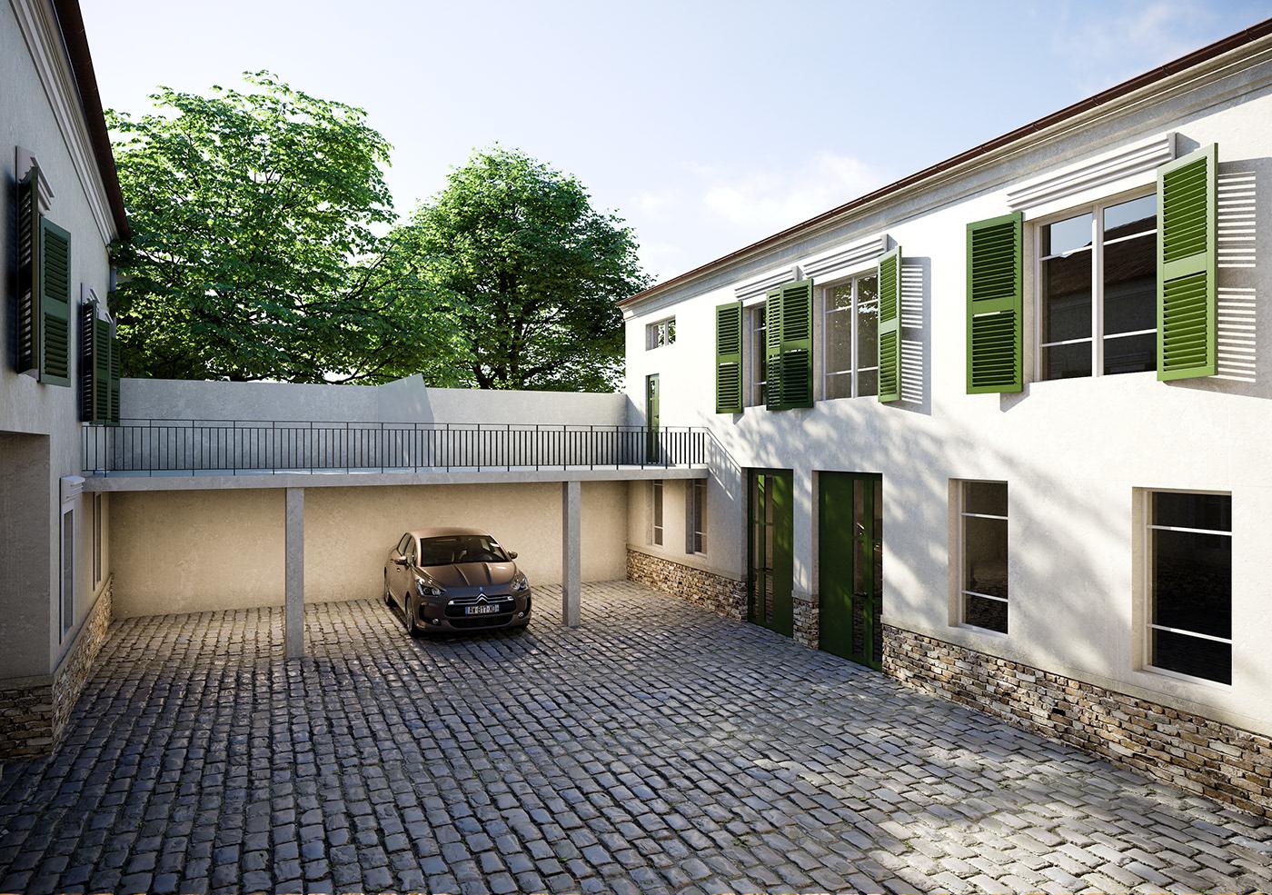 exterior design ideas france Paris traditional Renderings architecture