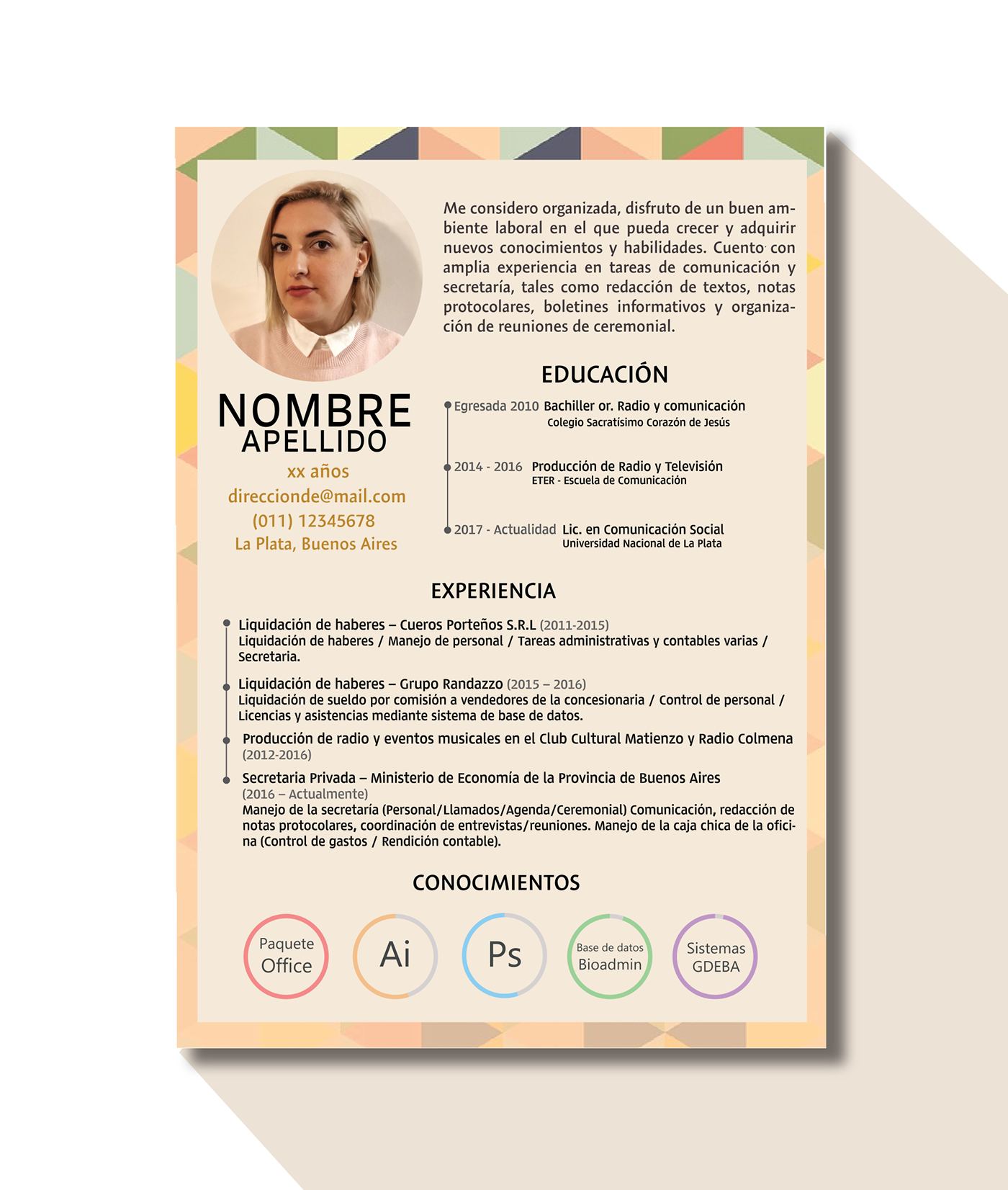Personalized Curriculum Vitae On Behance