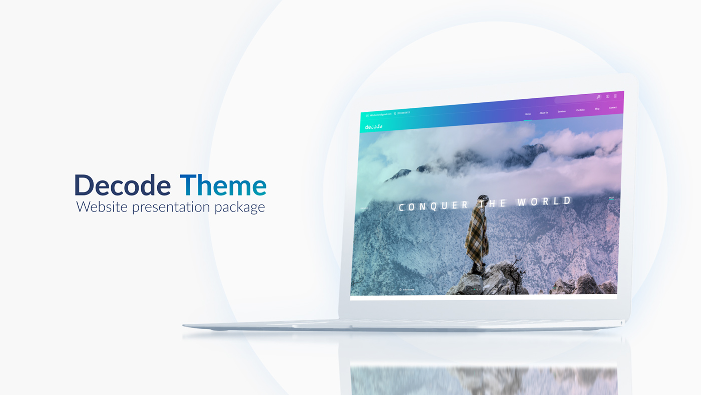 website presentation template on behance