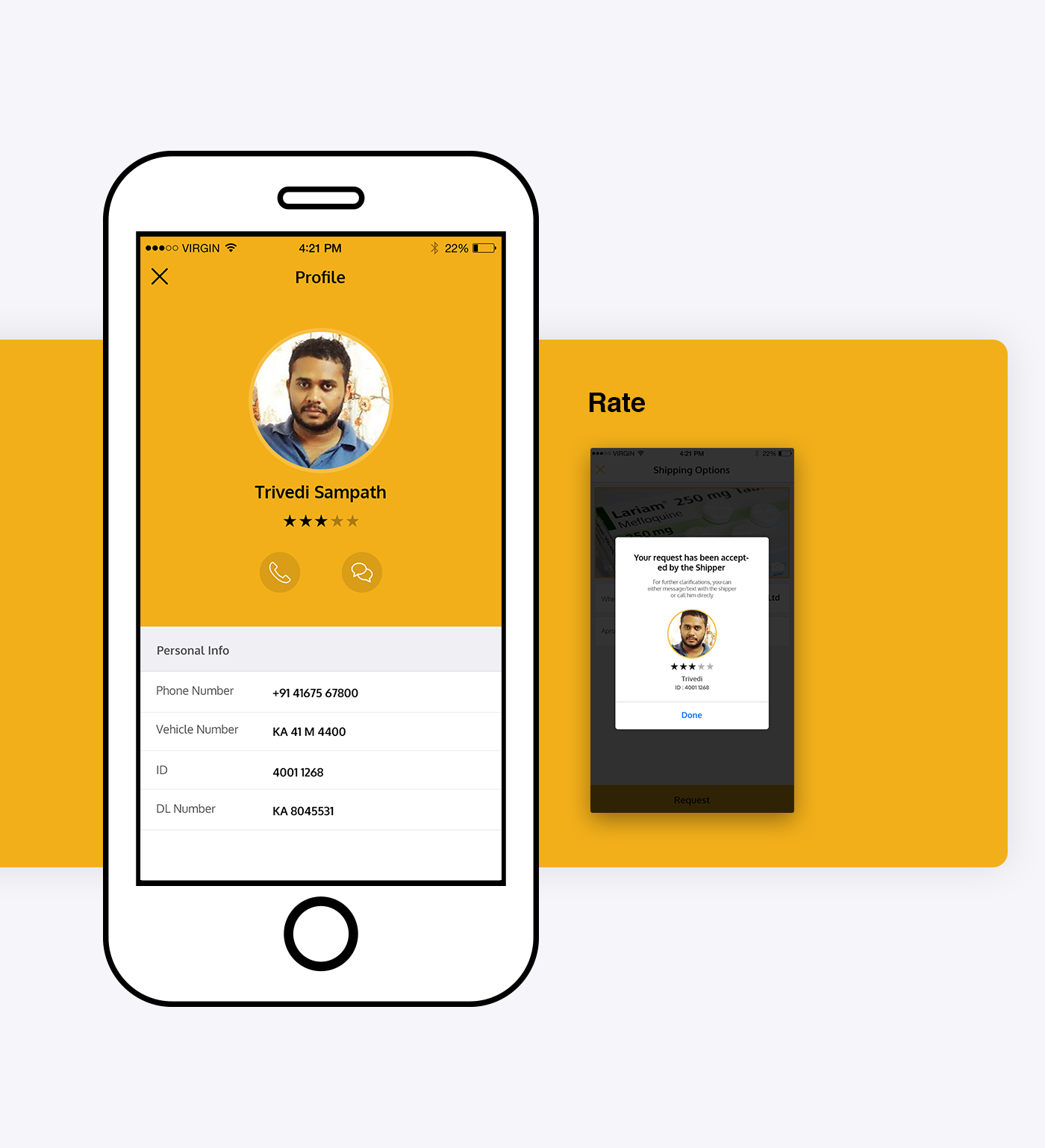 ios free mobile app mobile Kit psd shipping ux UI Shippo