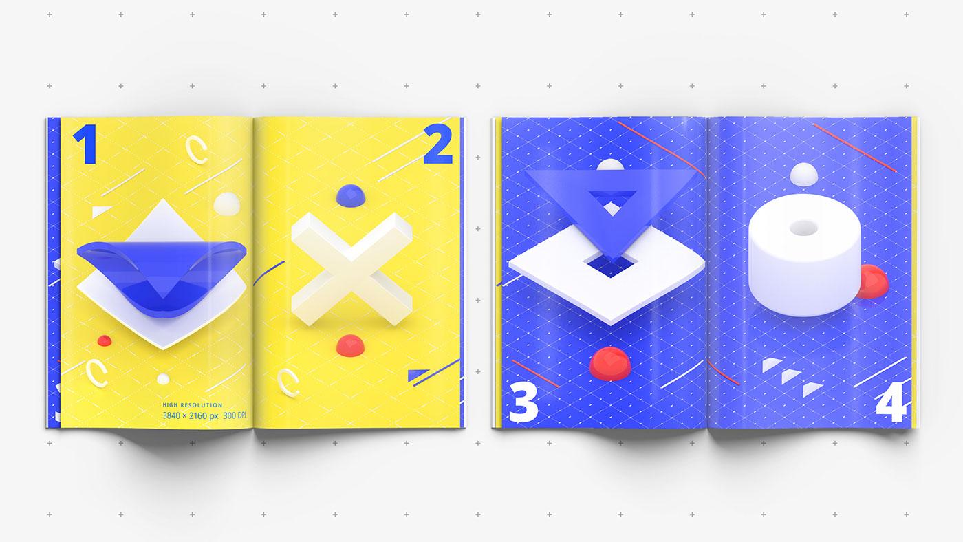 psd template Magazine mockup psd mockup Template Mockup design 3d mockup editorial free