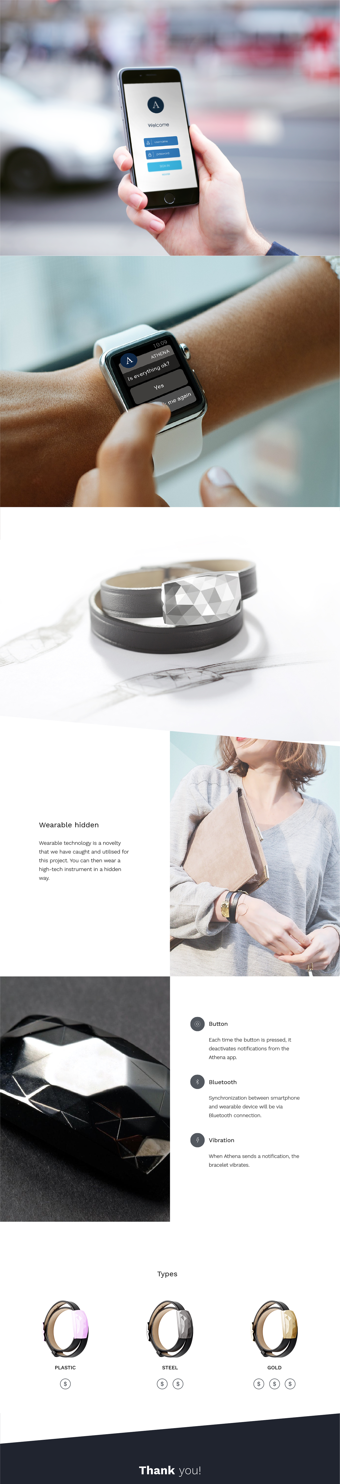 security app UI graphic design  woman iphone apple watch werable bluetooth product design