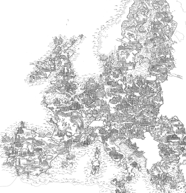 完美的19套手繪地圖欣賞