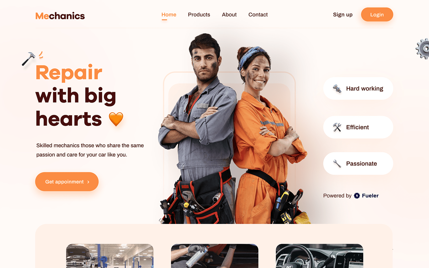 design landing page mechanics presentation ui design UI/UX UX design Web Design  Website wireframe