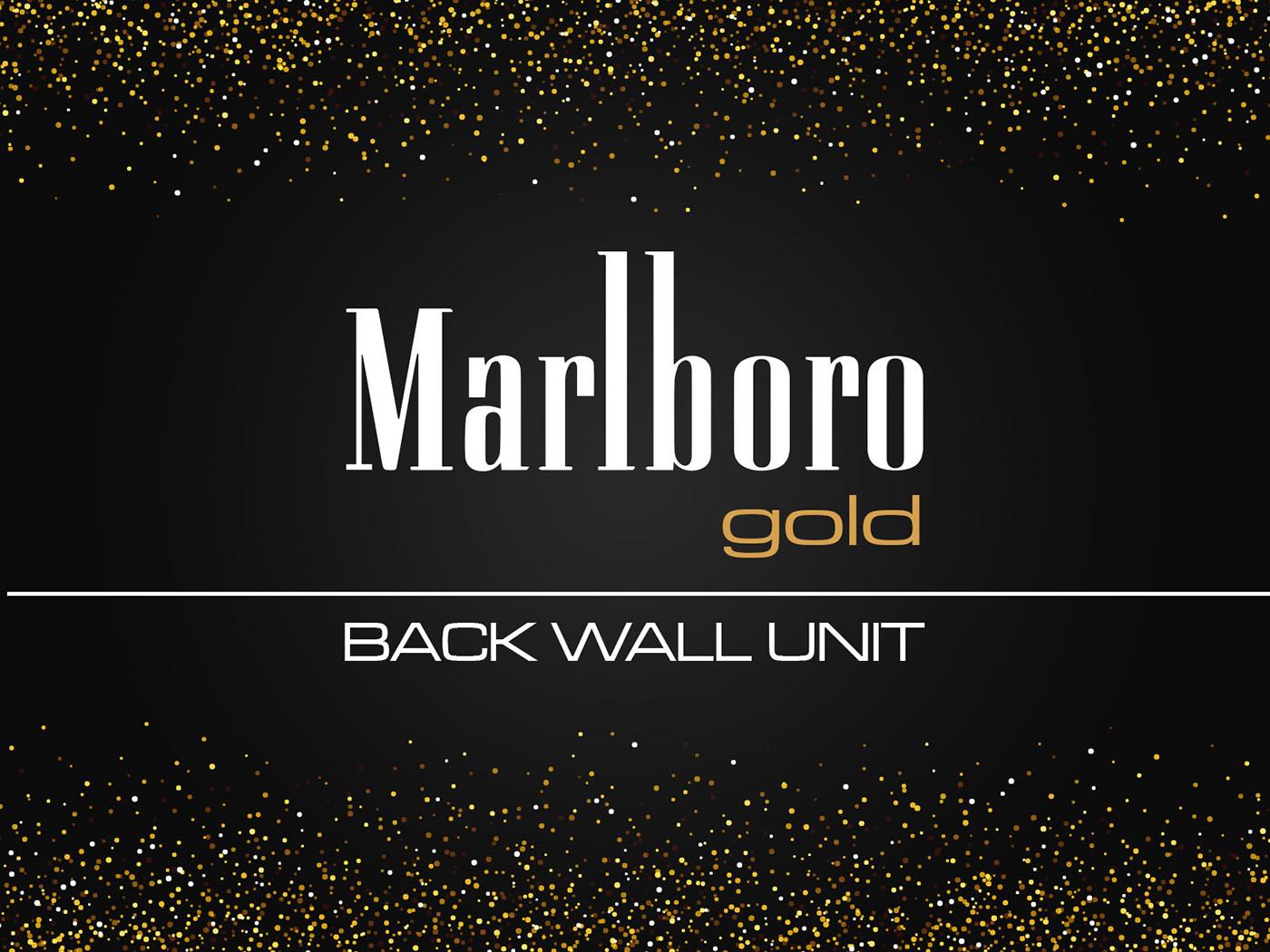 Marlboro Gold Cigarette Back Wall Unit on Behance