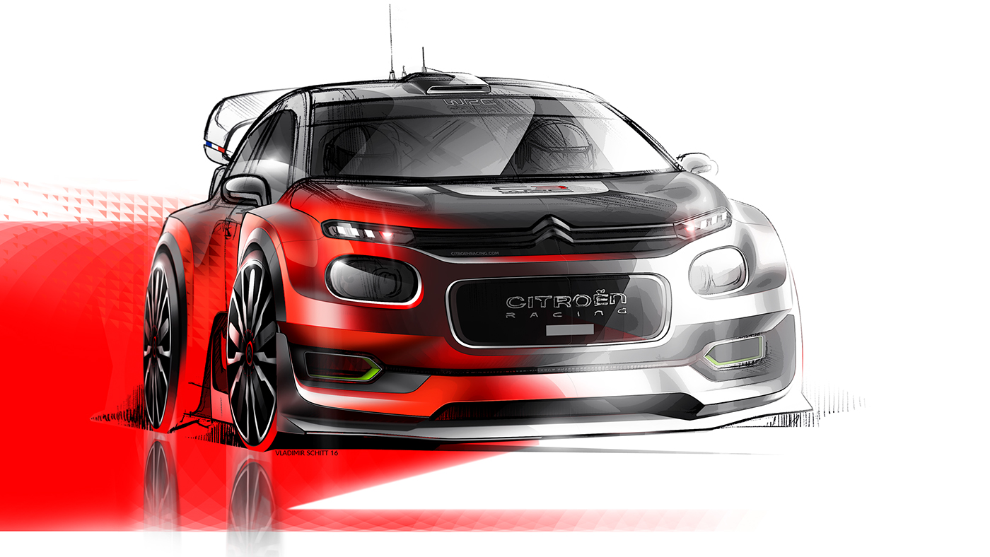 citroen c3 wrc concept 2017 on behance. Black Bedroom Furniture Sets. Home Design Ideas