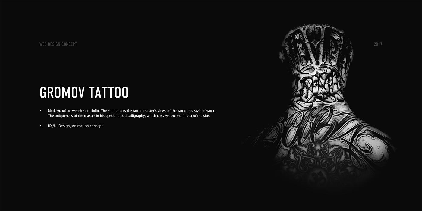 Gromov tattoo. UX/UI Design, Web design on Behance