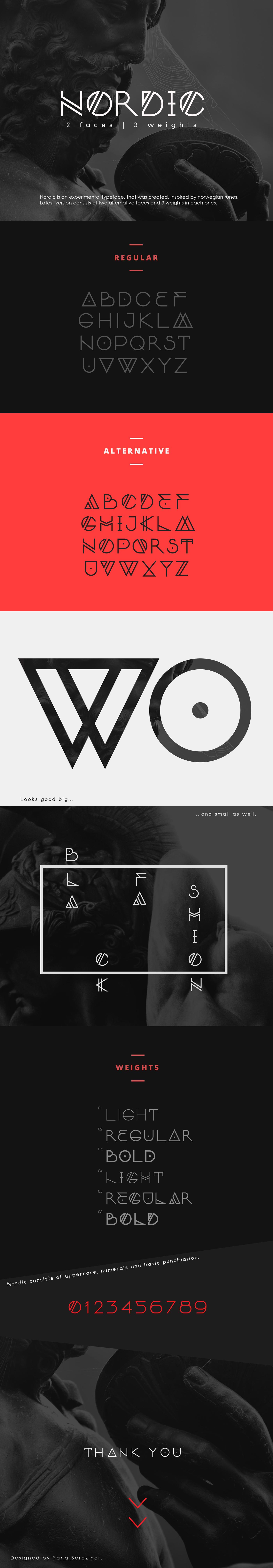 font Typeface free norwei wolf Scandinavian font family runes logo monogram Unique
