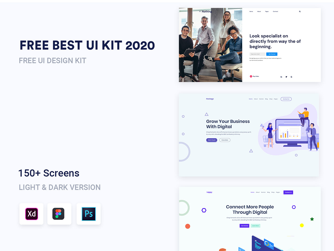 Adobe XD Blog business clean corporate Ecommerce Figma landing page modern Multipurpose