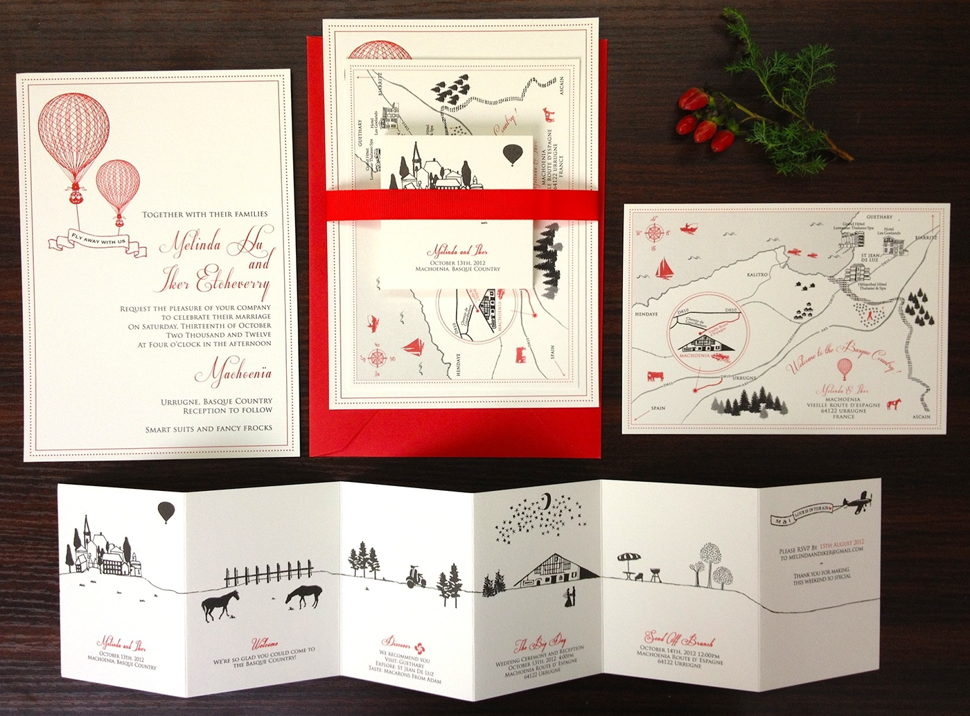 Rustic Basque Country Wedding Invitation on Behance