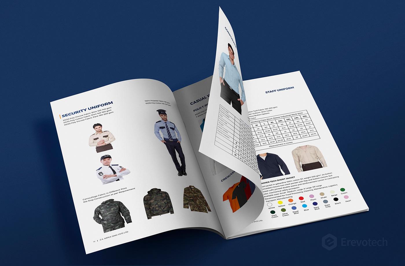 security uniform catalogue design