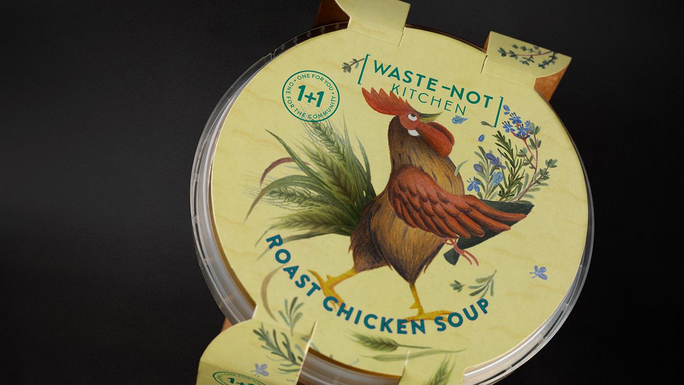 brand identity logo design Packaging ILLUSTRATION  Food Packaging