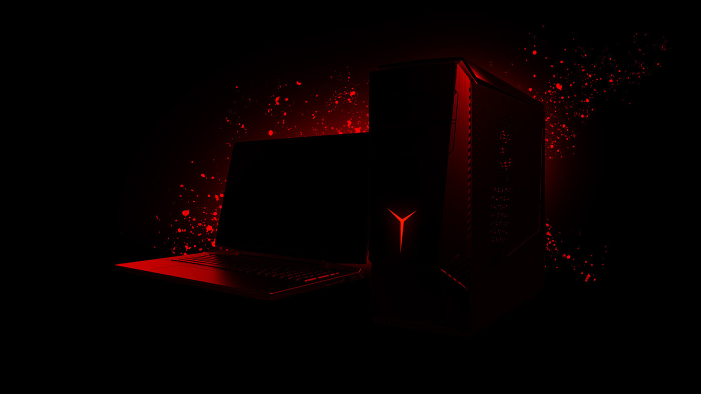 Lenovo PC computers 3D motion red Gaming advert social product Gamers product launch design tech teaser