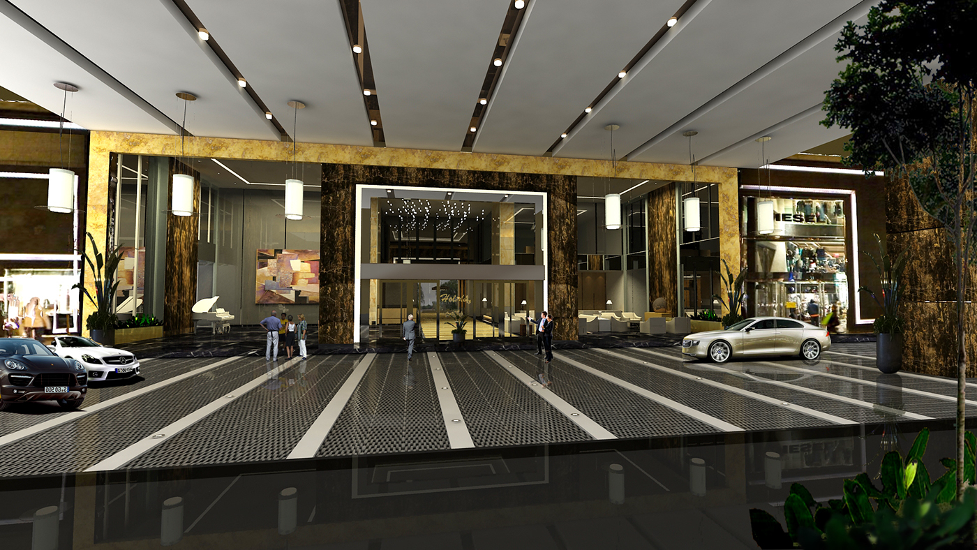 Luxury hotel project proposed visual design on behance for Luxury hotel project