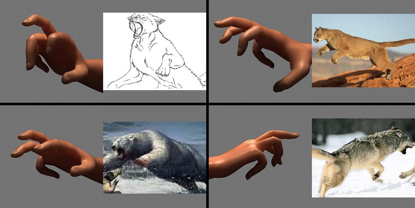Creative Retouching postproduction animals hand