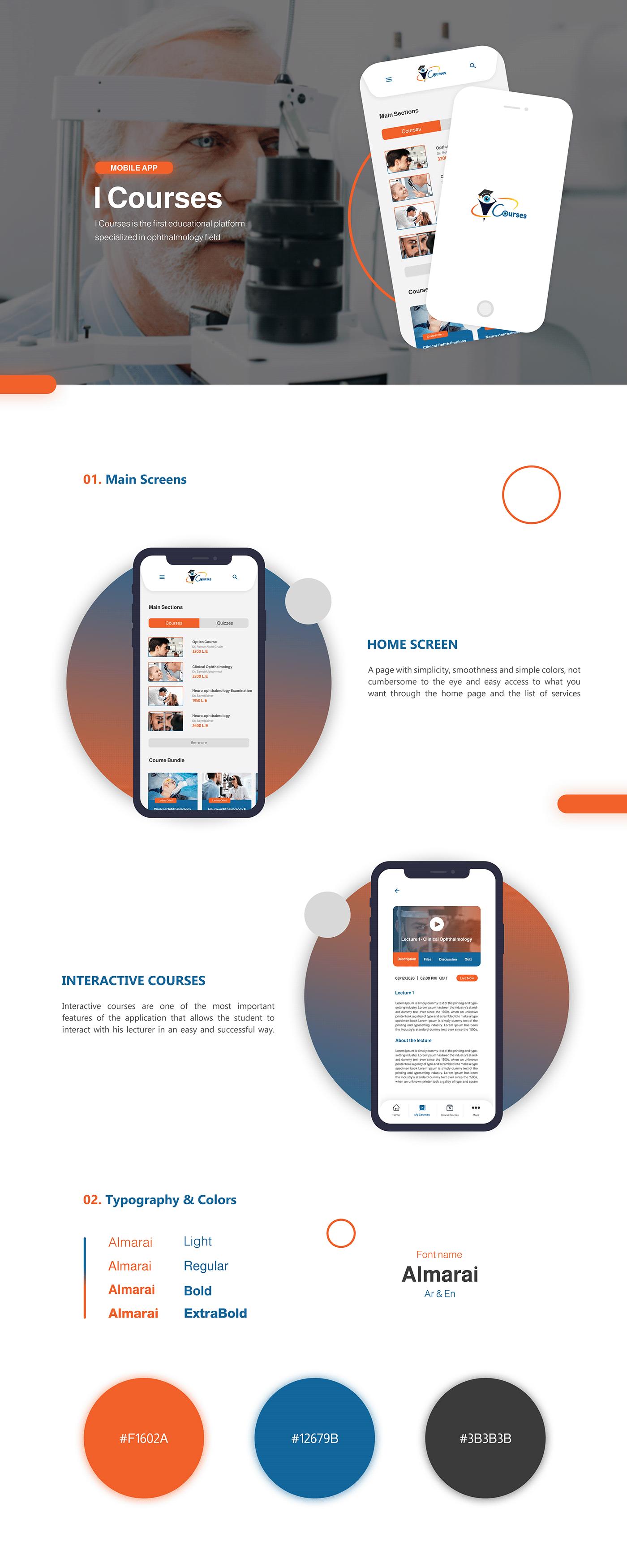 app application courses design mobile Mobile app UI UI/UX ux