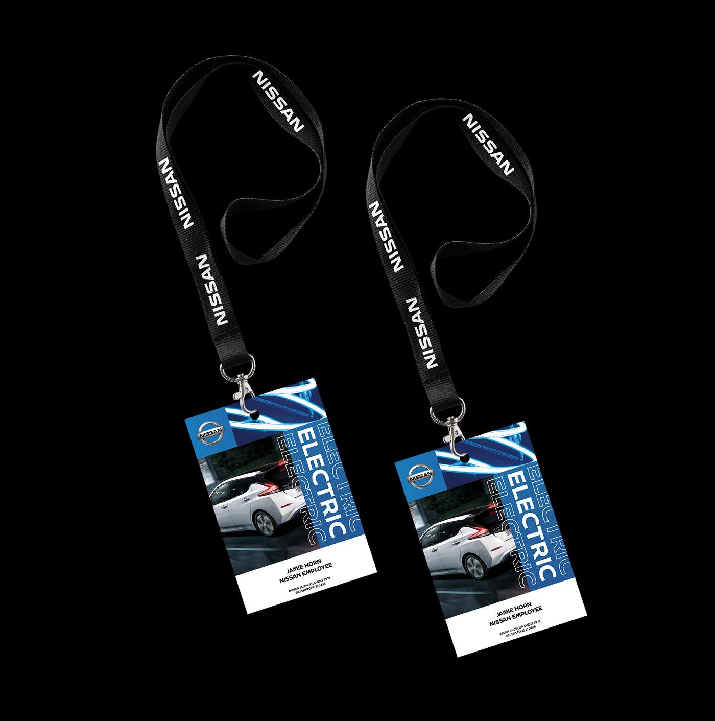 design graphic design  Creative Direction  car Nissan electric leaf print banner automotive