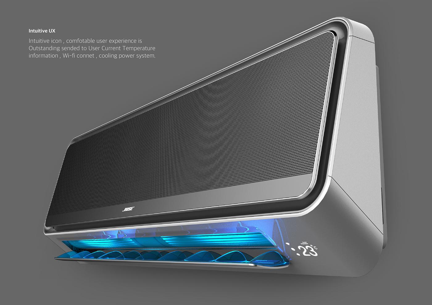productdesign industrialdesign sketch airconditioner 제품디자인 Bose design color material Air conditioner