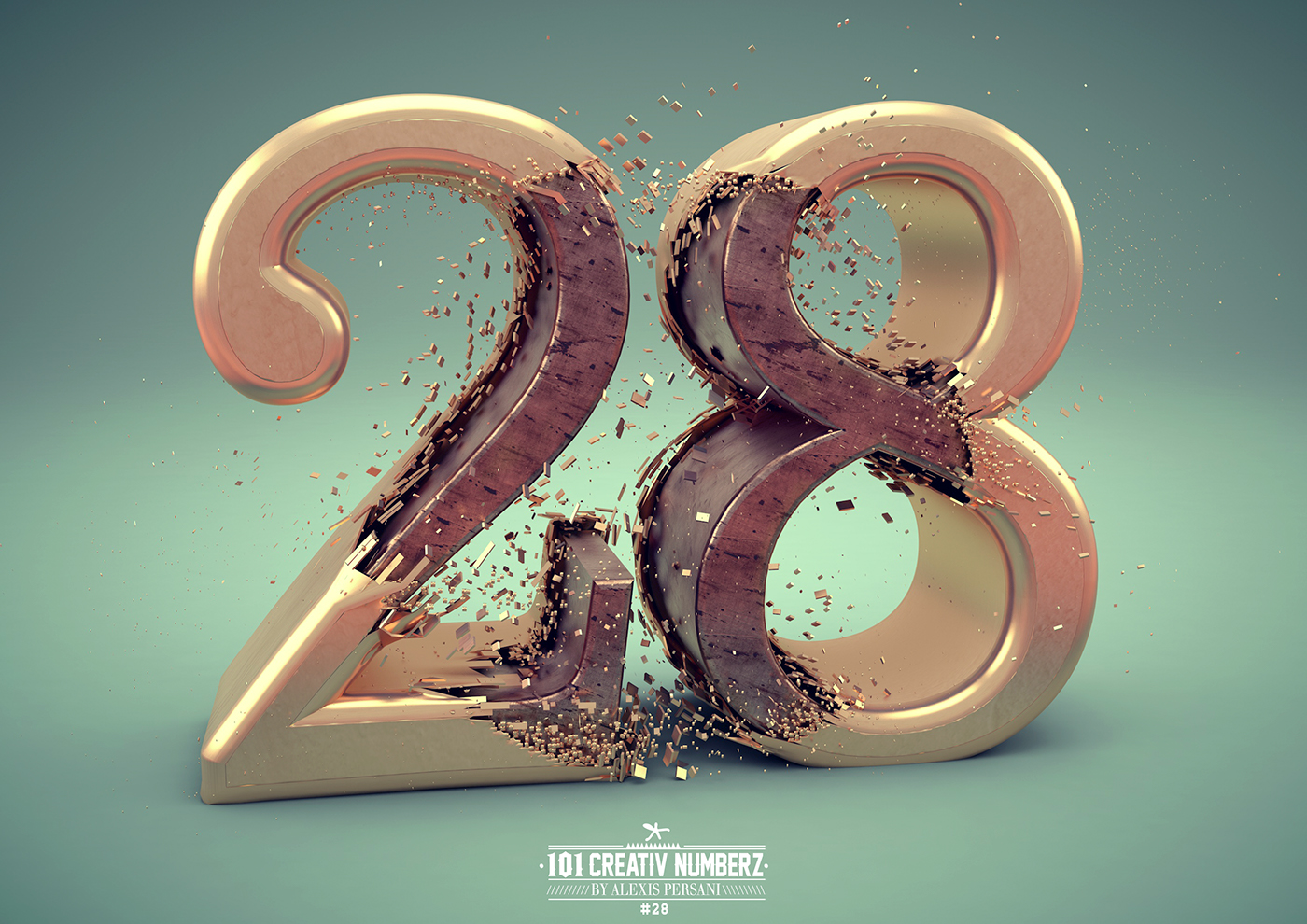 Outstanding 101 Creative Numbers Typography by Alexis Persani 26