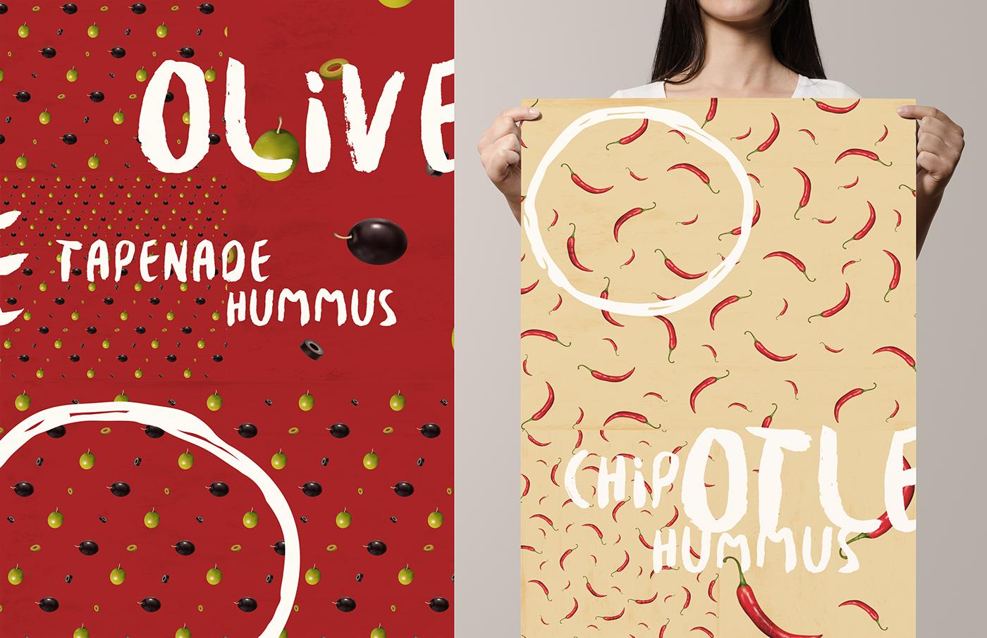 design Patterns branding  animation  Advertising  Food  tv spot sabra ILLUSTRATION  art direction