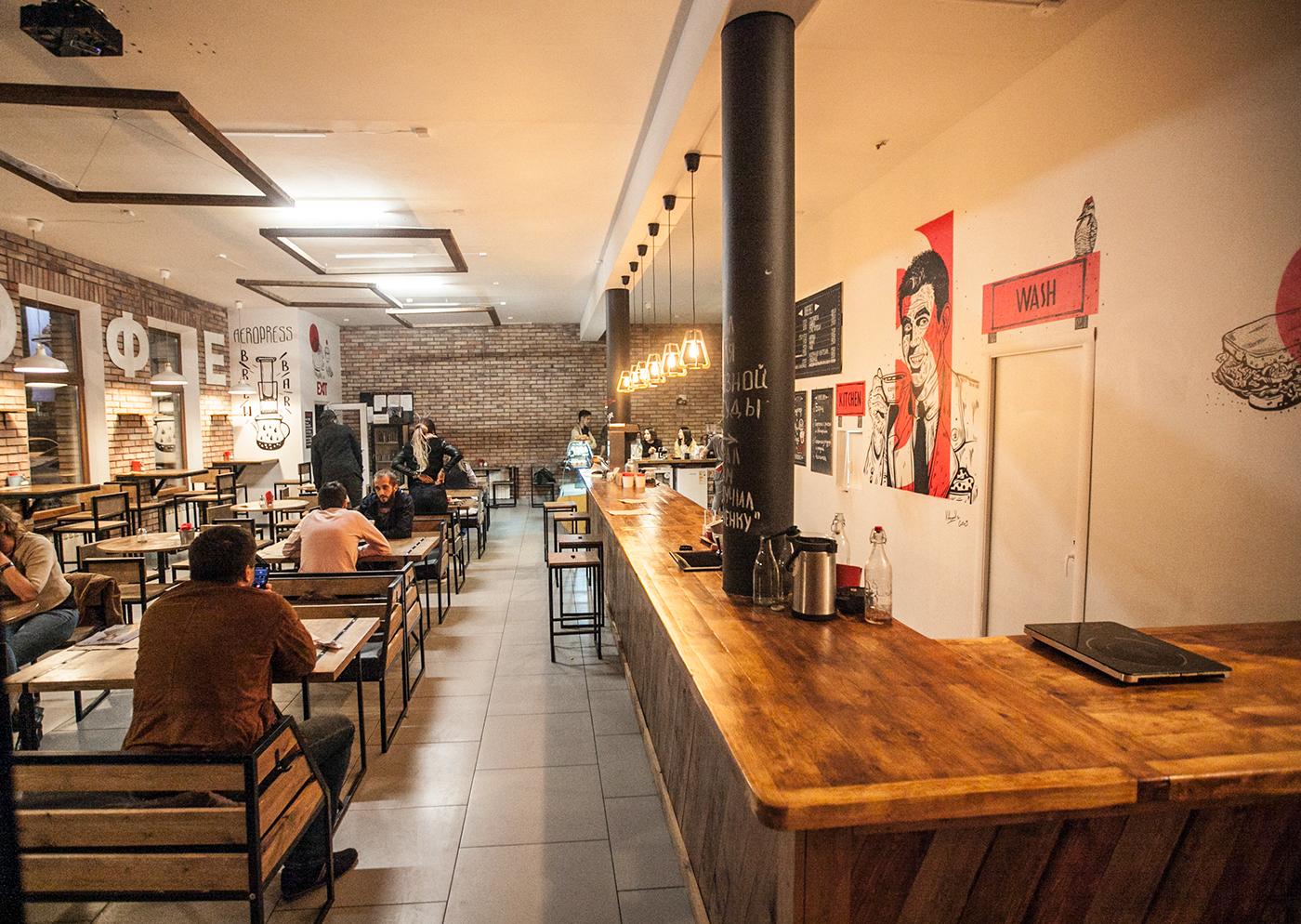 Coffee cafe Interior