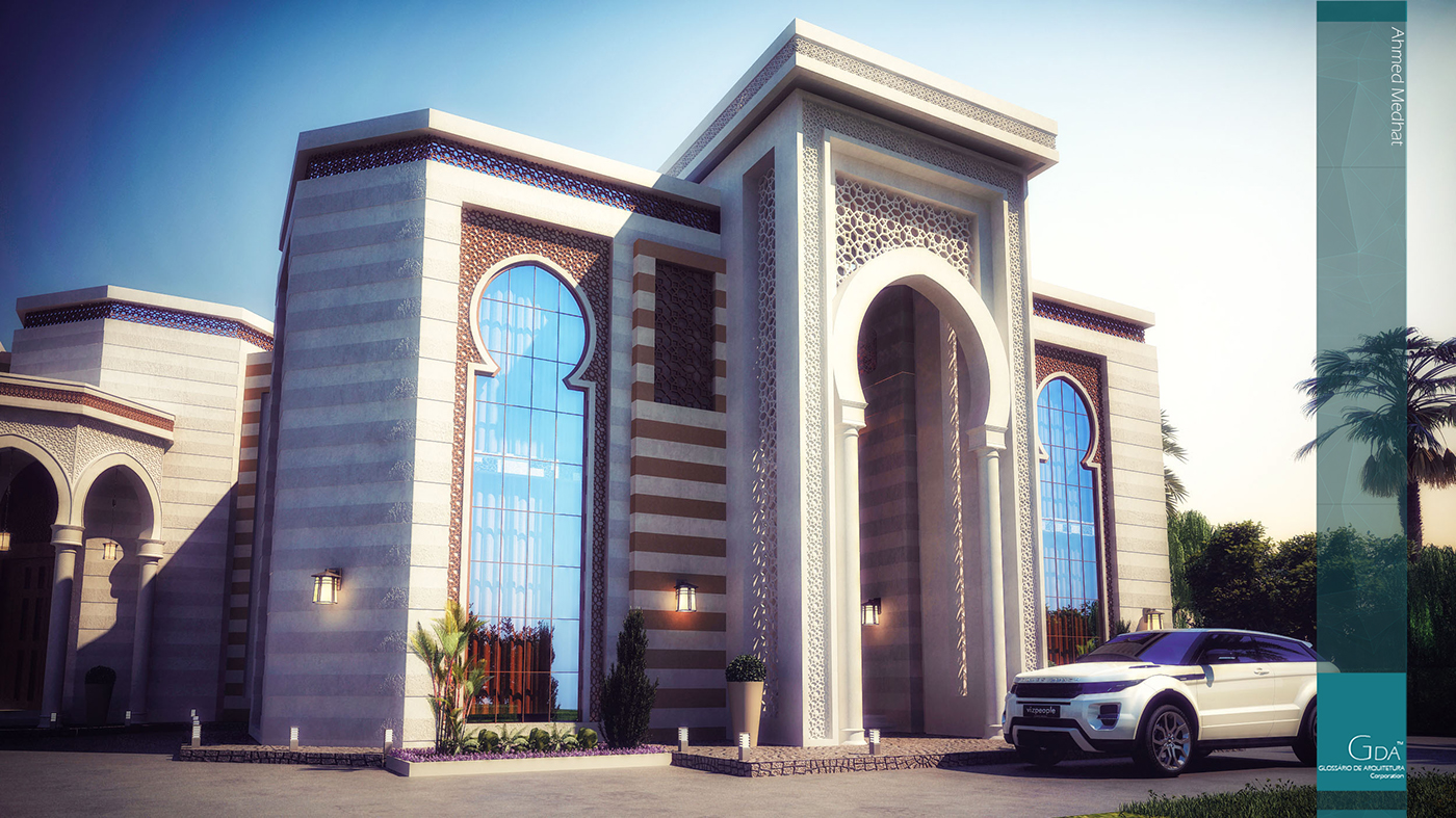 Heteen palace type c on behance for Mosque exterior design