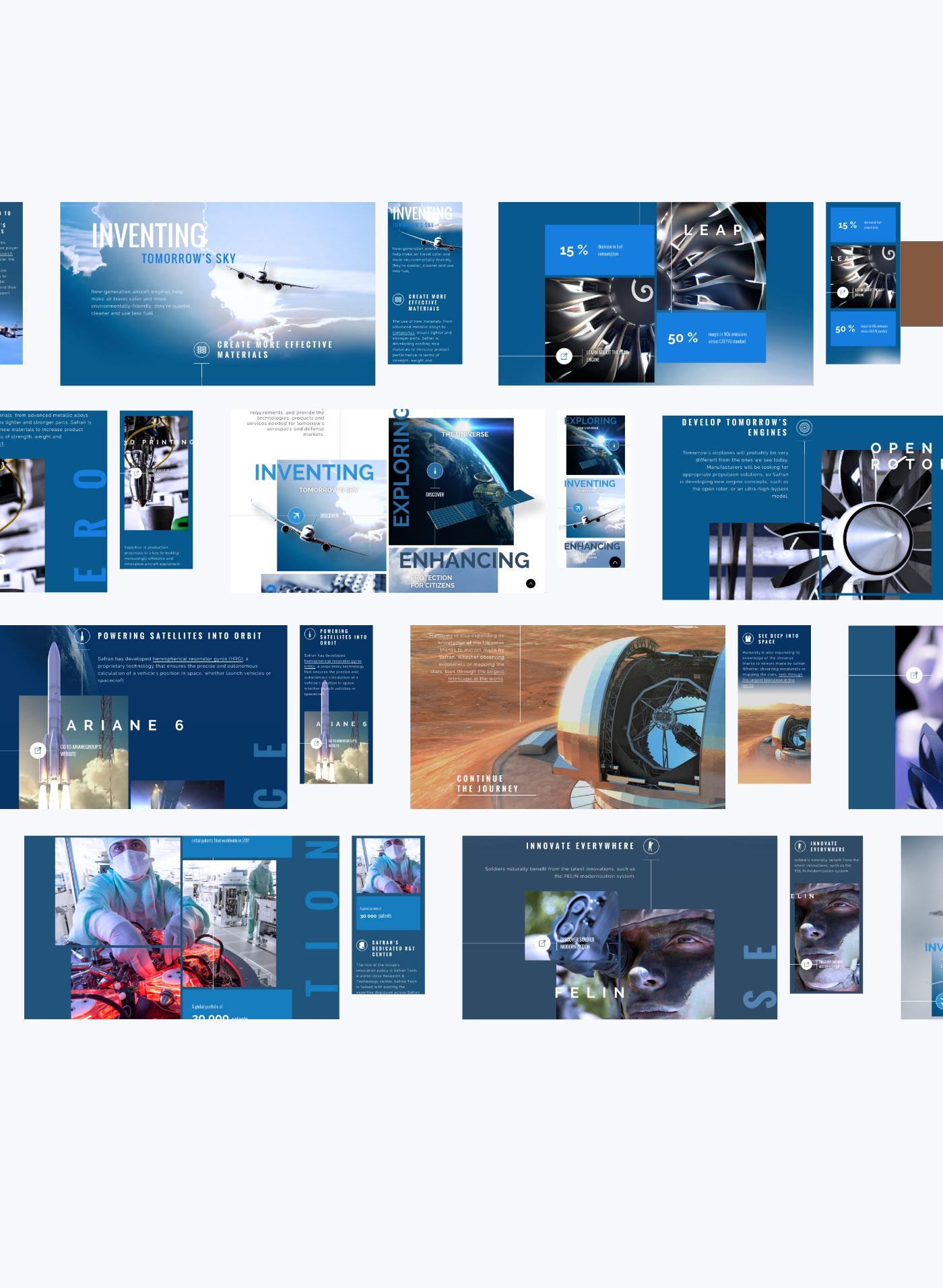 UX / UI,Aerospace,corporate,Web,parallax,industry,Ariane,storytelling  ,satellite,leap engine