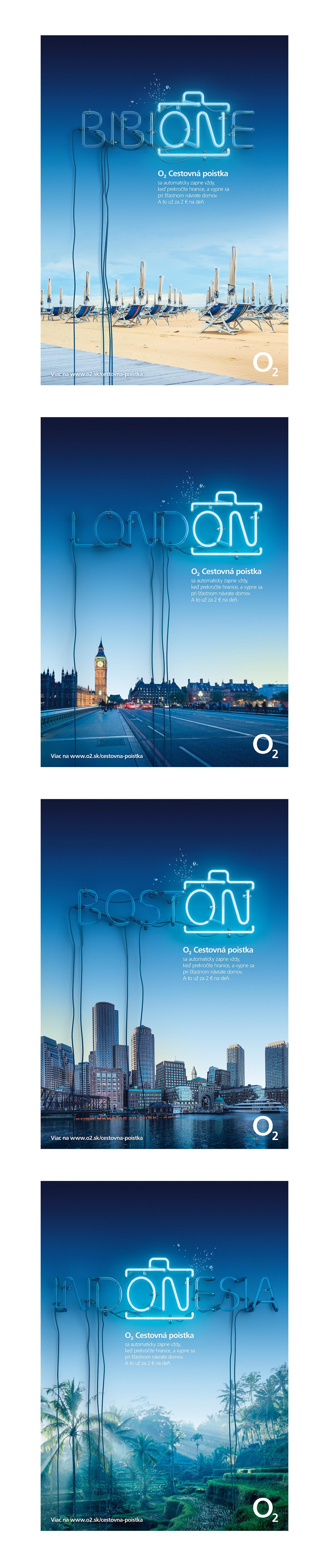 Travel insurance neon o2 cinema4d