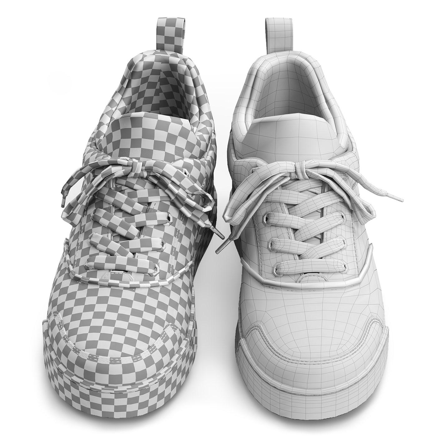 3d model of Christian Louboutin Aurelien Flat sneakers on Behance