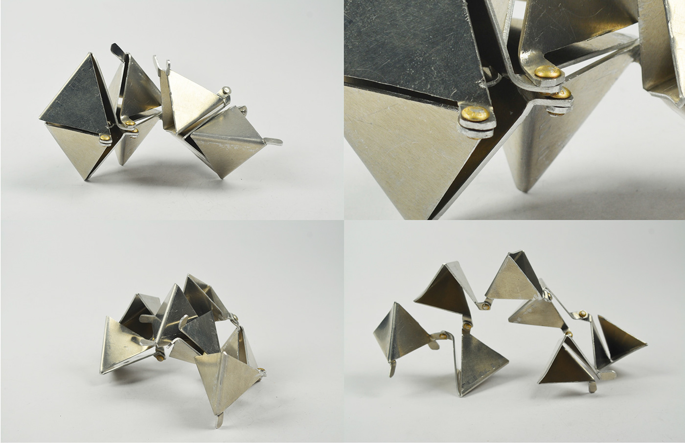 metal aluminum sculpture Metals 1 risd geometry