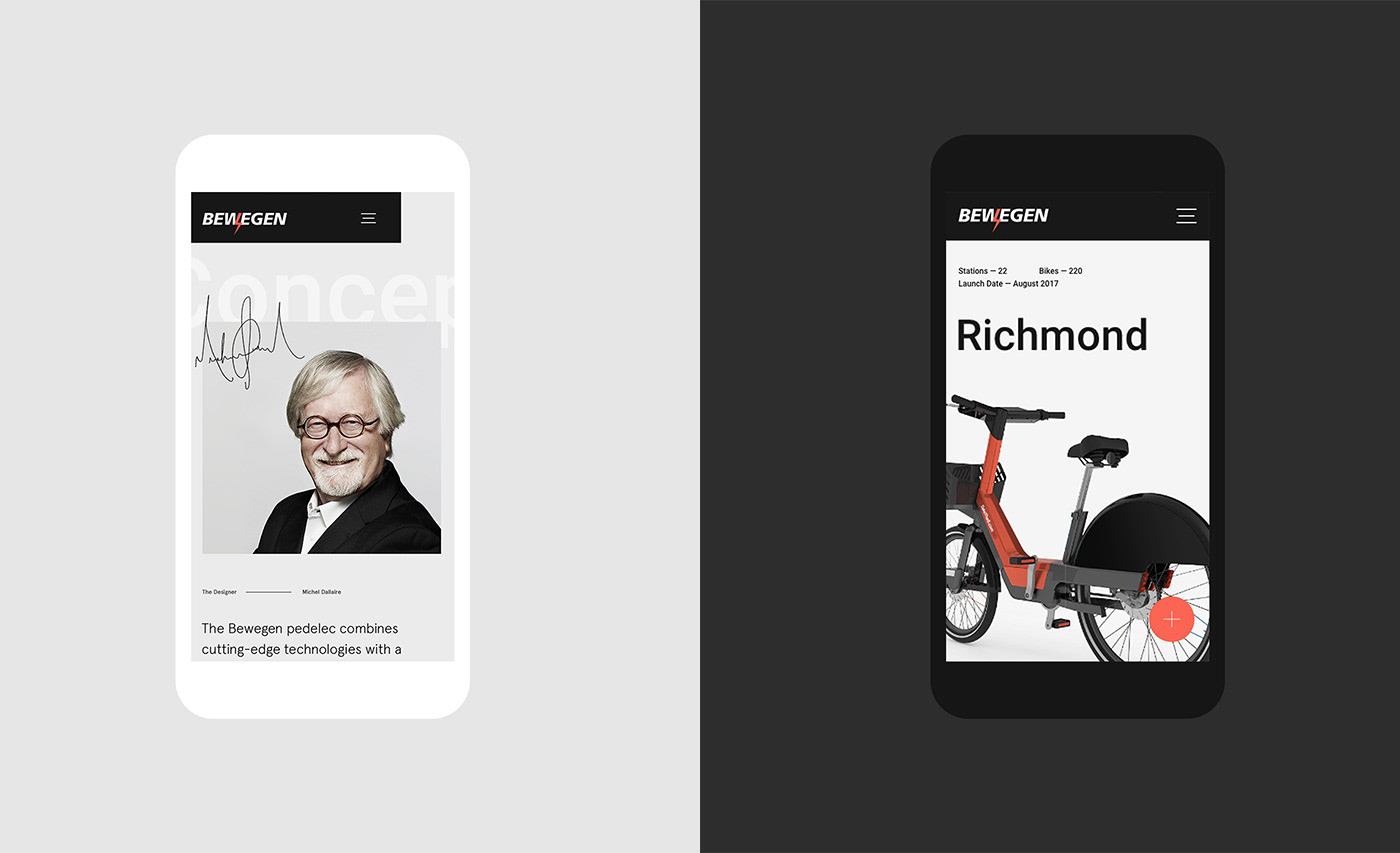 Bewegen Bicycle Bike-share transportation customization Montreal Bixi Technology interactive Bike