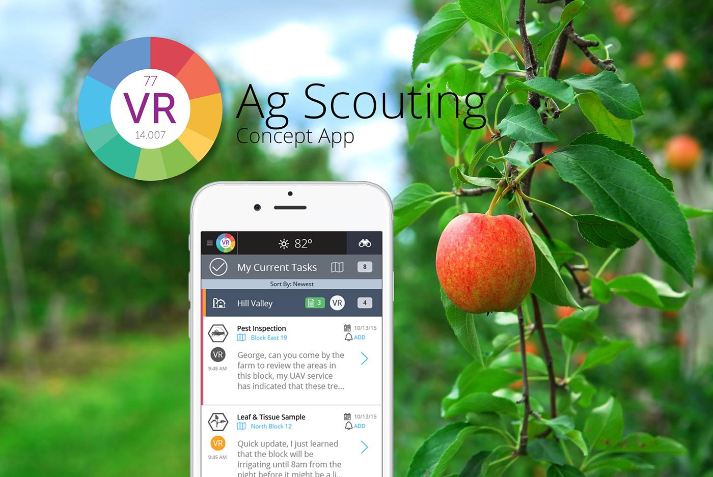ux UI ux/ui app farm task