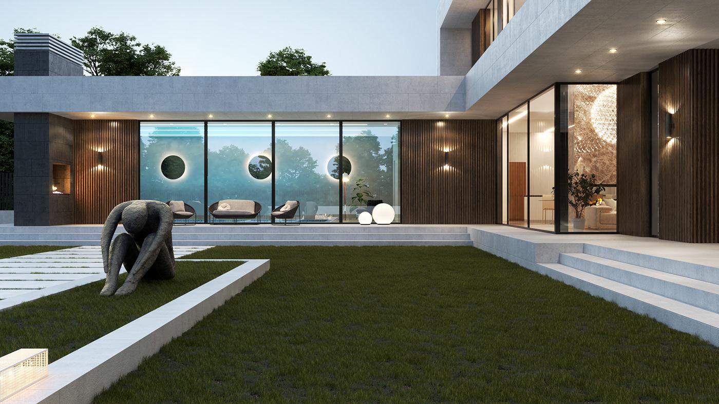 архитектура загородный дом проект дома  строительство частный дом