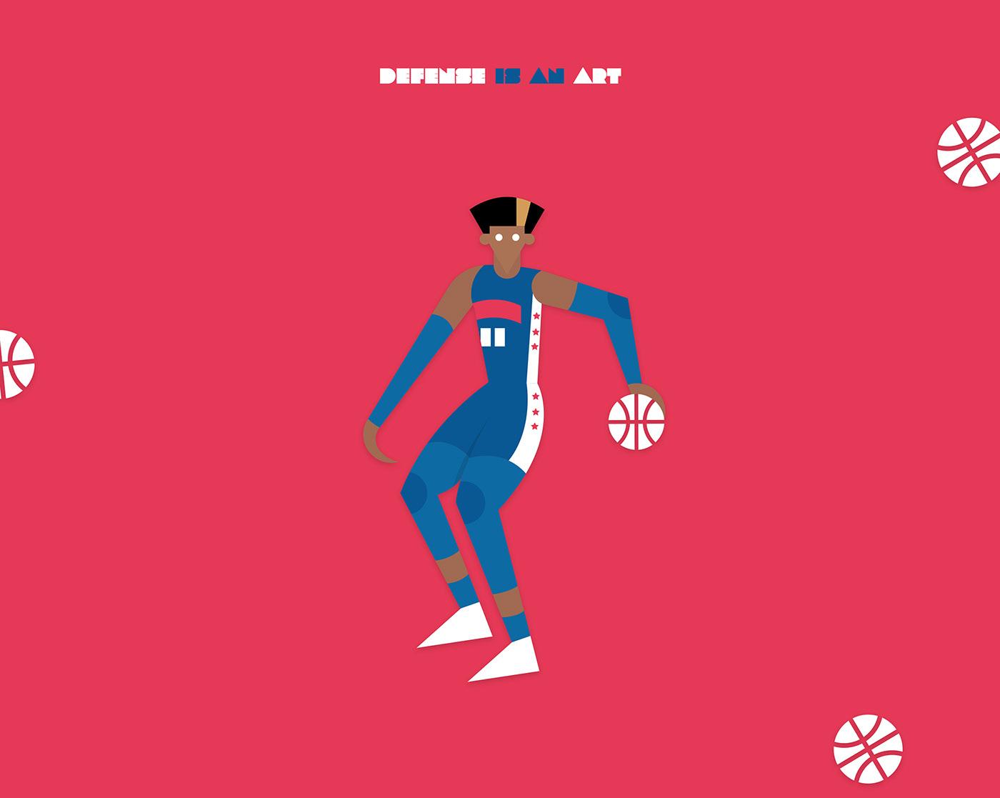 76ers art basket basketball matisse NBA philadelphia Sixers sport Thybulle