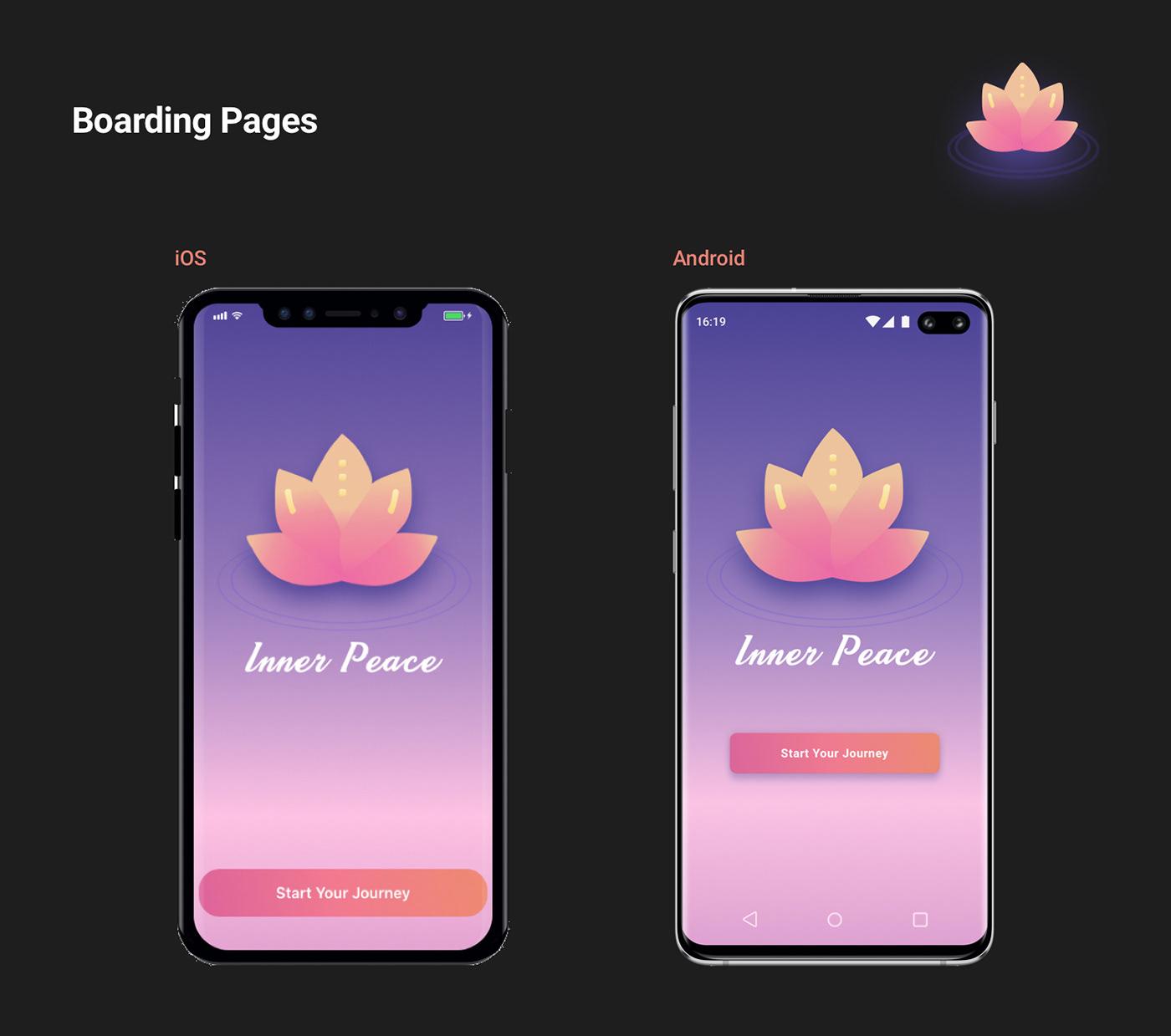 UI android ios meditation