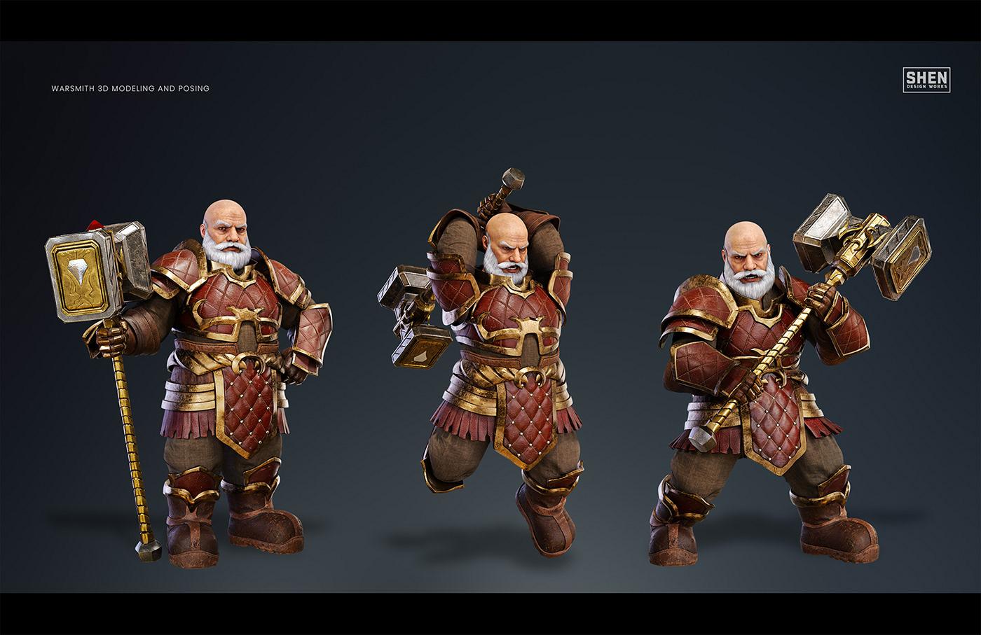 mobile games Video Games 3D model ILLUSTRATION  keyart marketing   character art