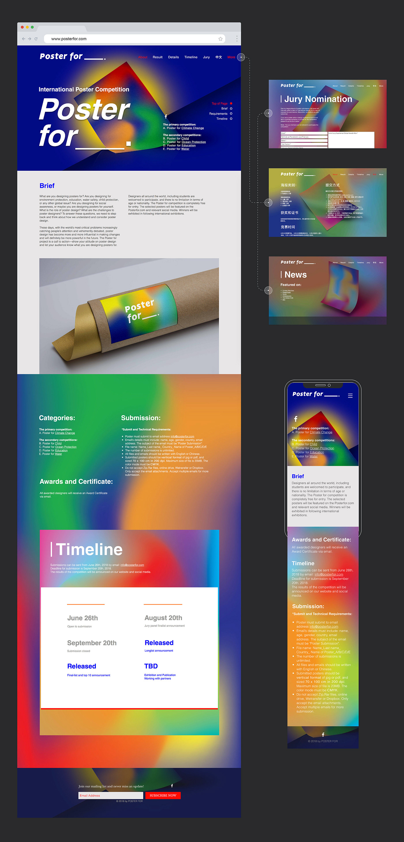 Event Design Identity Design visual identity Poster for Branding design Website Design design competition Non-Profit Project colors gradient