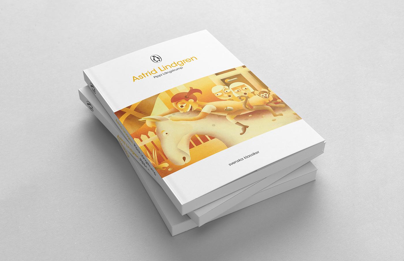 book cover astrid Lindgren Emil pippi Madicken stavanger pratt Sweden