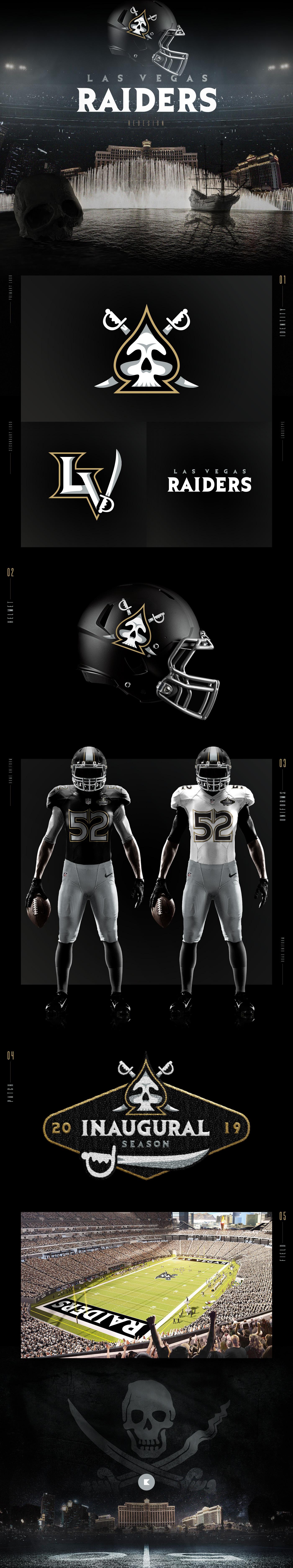 football sports nfl raiders Las Vegas redesign concept uniforms Helmet logo