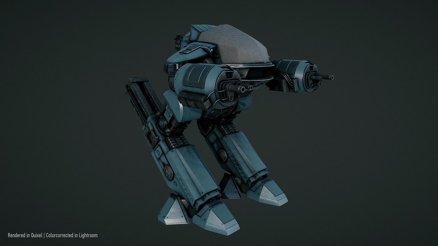 ED-209 Robot 3D Project
