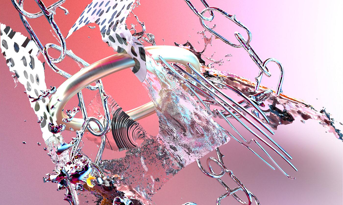 pink 3D adobe dimension Grafik Design idea graphic design  grafik Digital Art  digital