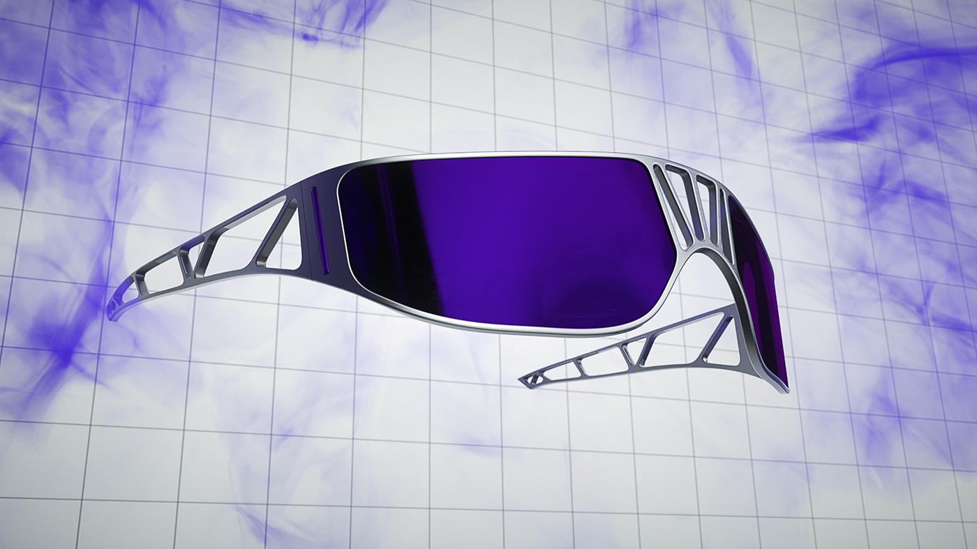 Cyberpunk Sunglasses glasses gafas tendencia future futuristic Render octane neon