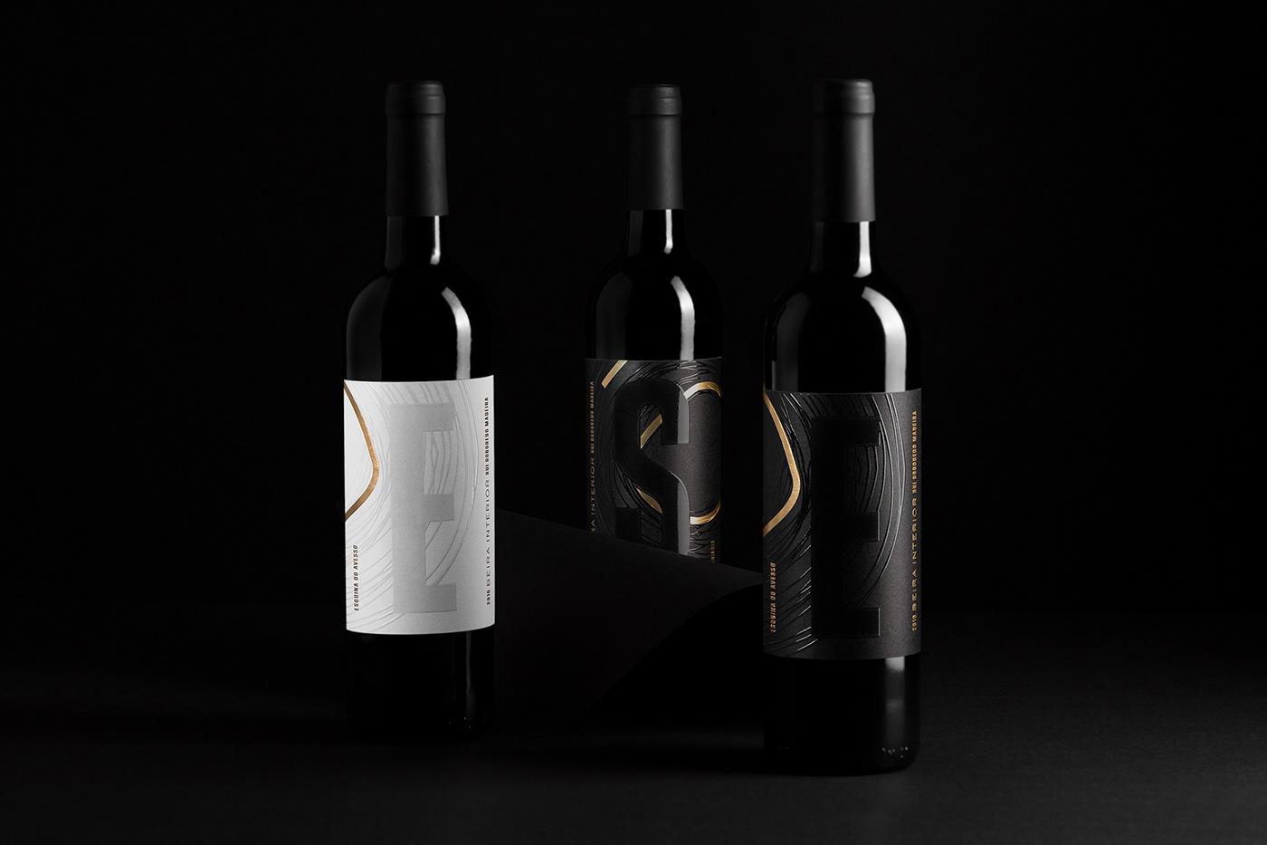 wine bottle winelabel Collection wine branding label design