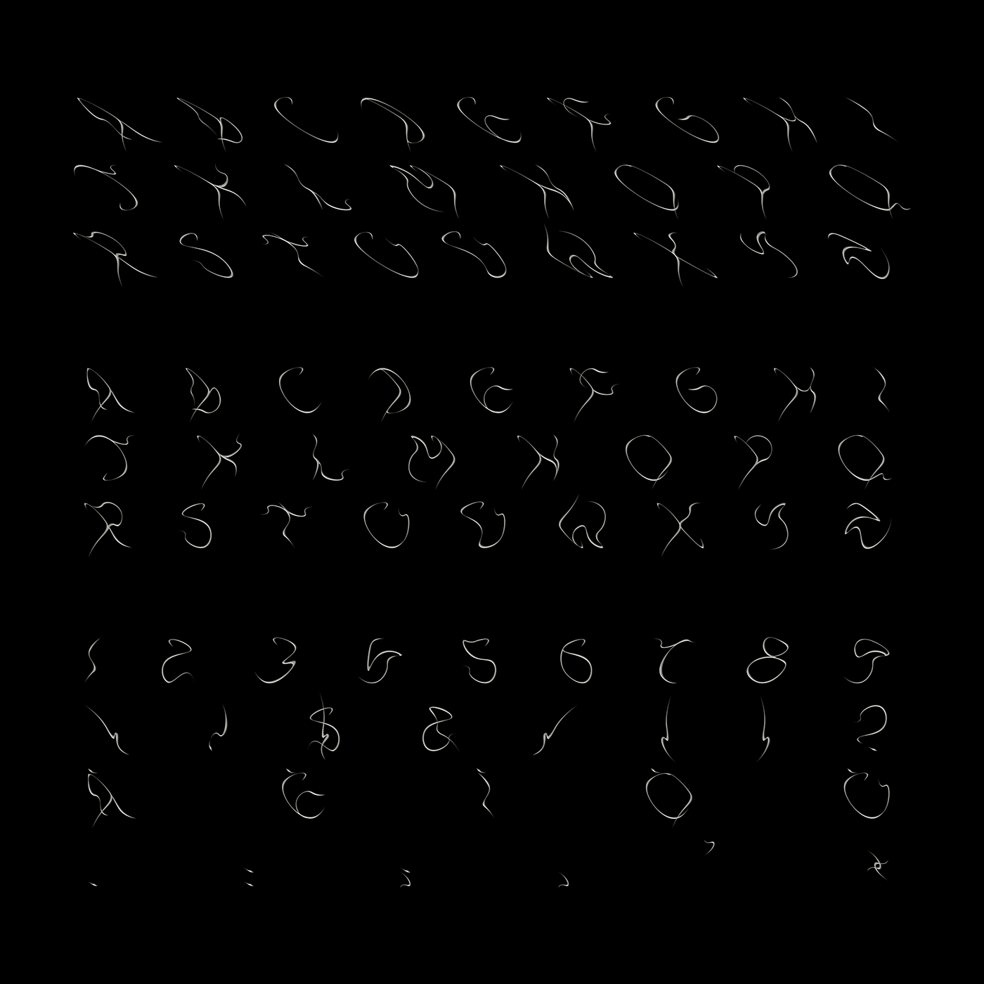 custom type custom font font Typeface elegant tribal cursive abstract digital