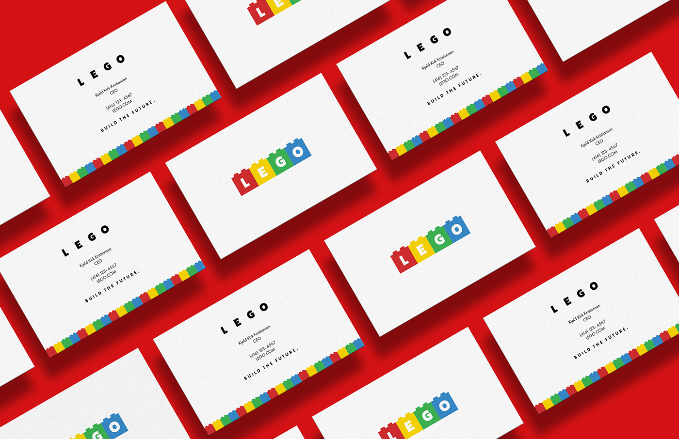 Lego rebrand on behance for Lego business cards
