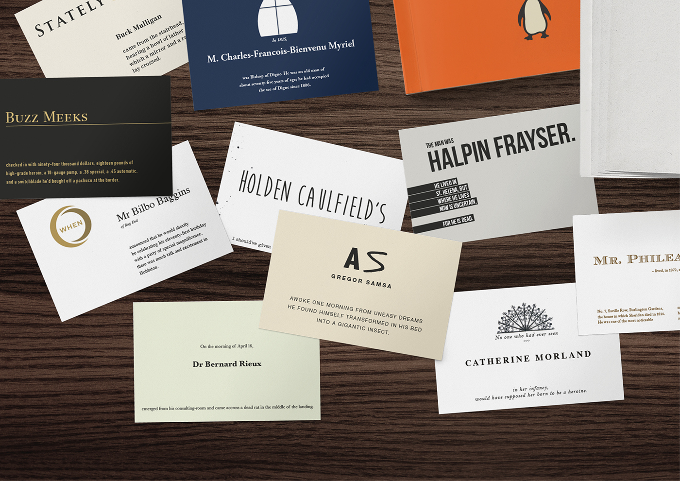 Orell Füssli Bookshop – Literature business cards on Behance