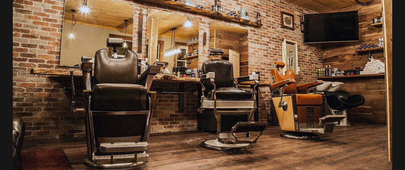 ottawa branding  graphic design  logo Hipster barber shop vintage identity Ottawa Business design