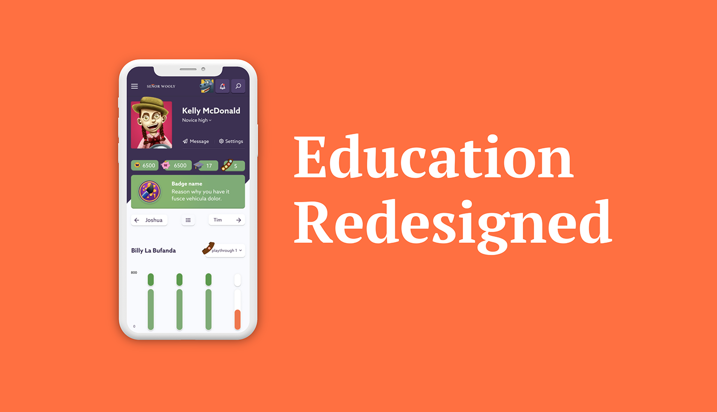 app application clean dashboard e-learning edtech Platform teacher UI ux