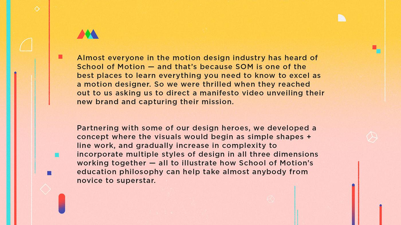 motion design manfesto brand video animation  branding