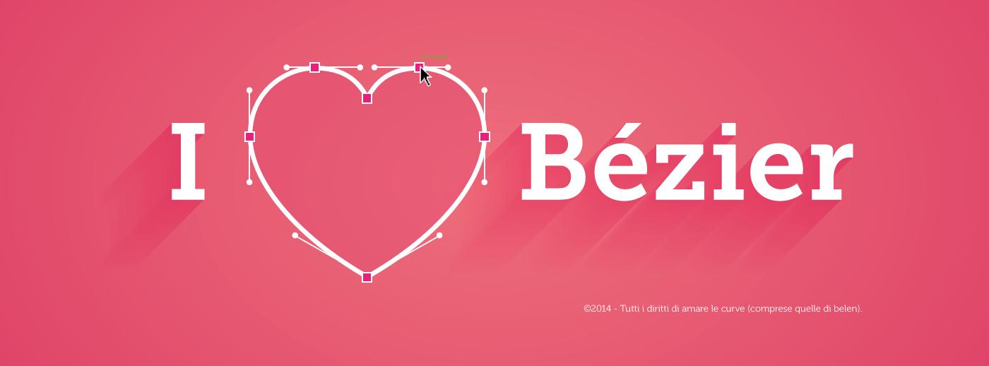 Valentine's Day heart Love bezier